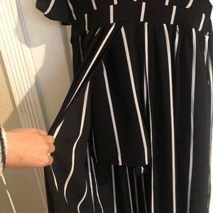 Chic Striped  Maxi Romper